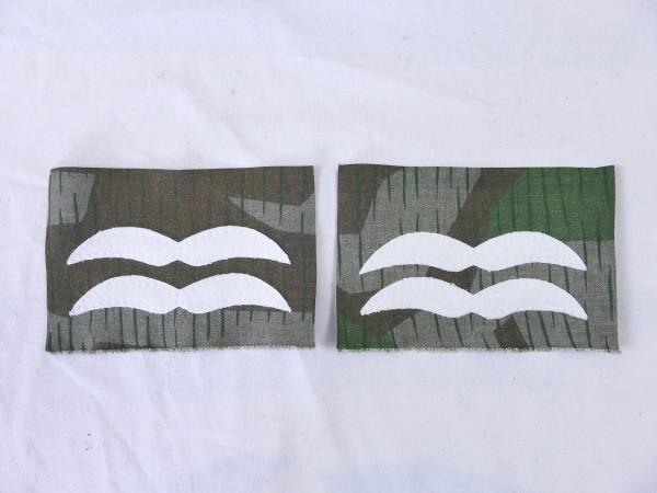 Luftwaffe rank badge UNTER FELDWEBEL on camouflage material bone bag paratrooper