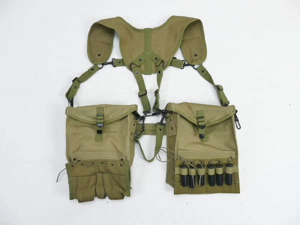 US WK2 MEDIC Suspenders System Harness Stretcher Red Cross Medic with Pockets