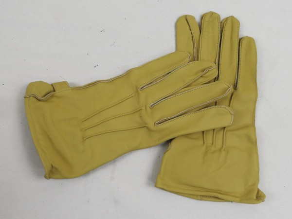 US WW2 Leather Gloves Paratrooper Paratrooper Leather Gloves sand colored