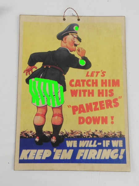 Picture Poster Anti German A.H. Satire / on heavy cardboard - Cardboard (4183)