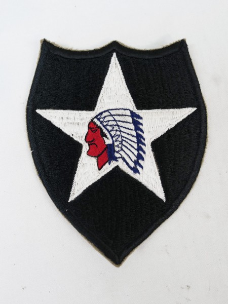 US Army 2nd Infantry Division patch indian head