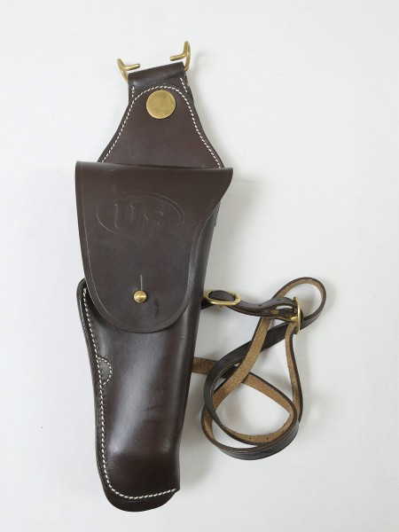US M1912 Leather Swivel Cavalry Holster Colt 1911 Government Leather Holster 45s