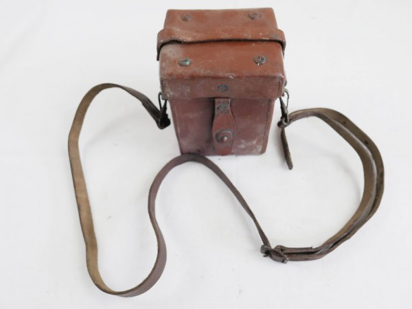 US ARMY WW2 M4 Sight 60mm Mortar & Carrying Case M14 Optics Mortar with Leather Container