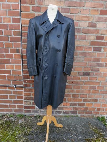 Vintage Wehrmacht Officers Coat Police Gestapo Leather Coat Junker Short Coat Gr.50