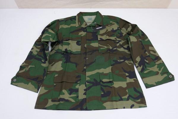 US Army BDU Woodland Field Jacket Ripstop Field Jacket