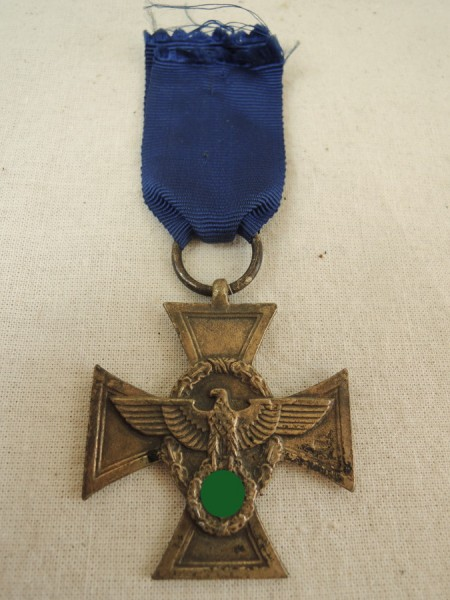 Service award of the police 2. stage for 18 years 1938