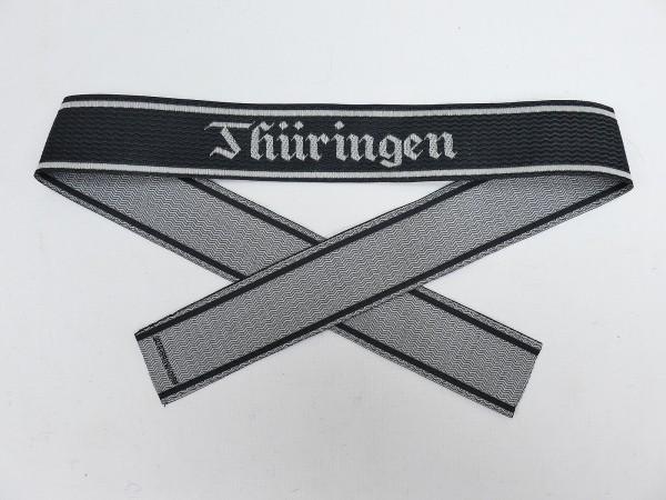 Wehrmacht Elite BEVO Sleeveband SS Totenkopf Division THÜRINGEN Sleeve Stripes