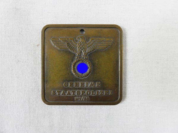 Badge Gestapo M1/86 Secret State Police 589 Central Inspectorate