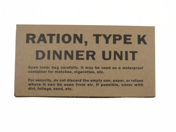 US ARMY WW2 Rations Type K Dinner Unit / Rations Box Carton Catering