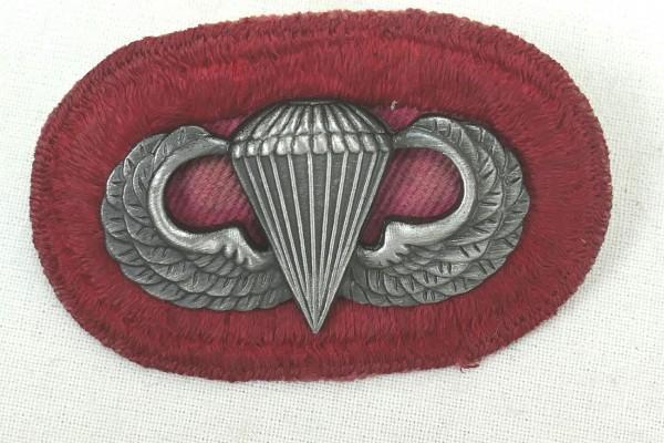 #06 US Airborne Jump Wing oval - Parachute badge Parachutist Badge Jump Badge
