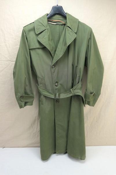 Original US Army 1960's Vietnam era trench coat olive drab