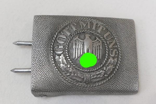 Wehrmacht Army Alu Box Belt Lock - God with us - Aluminium