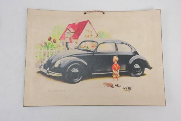 Wehrmacht Vintage Sign Poster Cardboard - KDF Wagen - Der Innenlenker