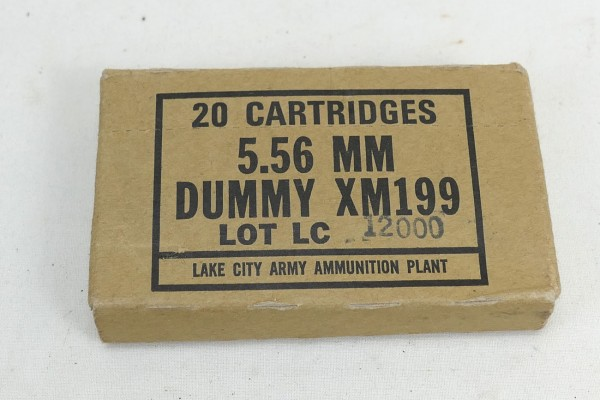M16 Drill Dummy Cartridges 5,56MM XM199 M16A1 / 20x Cartridges