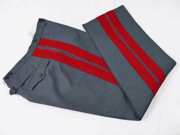 Uniform trousers trousers General stone grey with red piping Tailor made