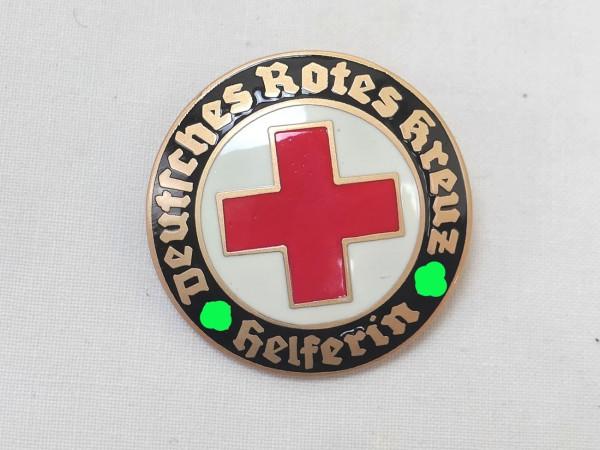 German Red Cross Badge DRK Helper on Pin Brooch