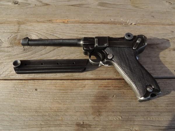 Pistol P08 Marine antique deco model movie weapon