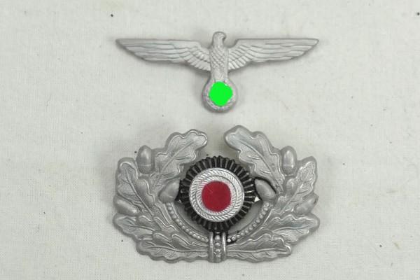 Cap badge for peaked cap officer eagle + oak leaves cockade