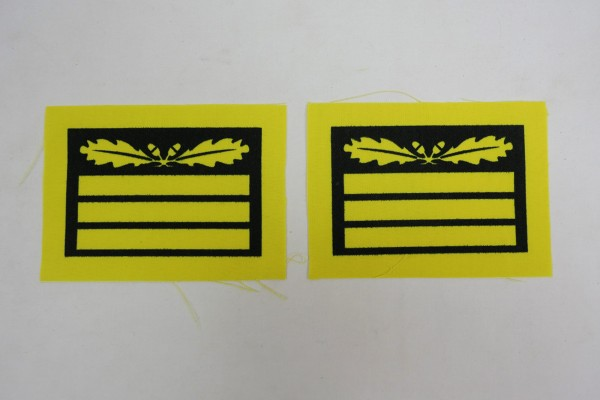 1x Pair WSS Gruppenführer Generalleutnant Badge for camouflage uniforms and special clothing