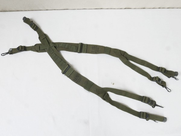 (S4) US Army WW2 M1945 Suspenders / Belt Carrier harness dated from Depot