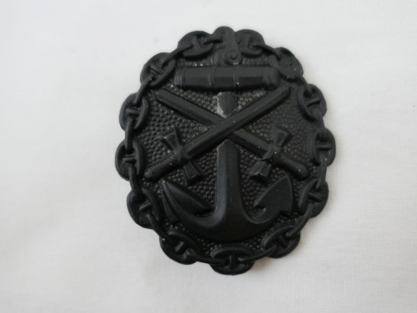 Wounded Badge Black Navy