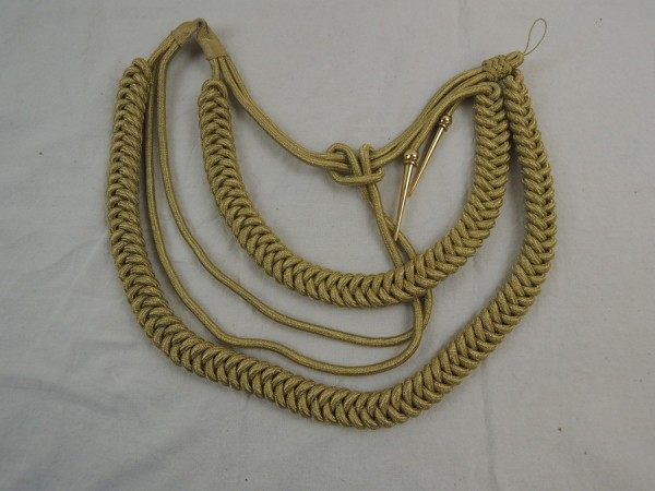 Wehrmacht PARADE Catching Line Monkey Swing Adjutant Line Uniform in gold