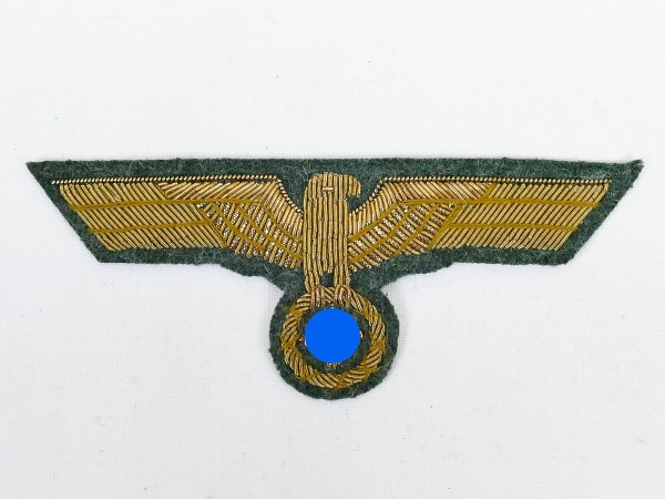 Wehrmacht General Breast Eagle M40 Gold Thread Embroidered for Field Blouse Service Skirt Generality
