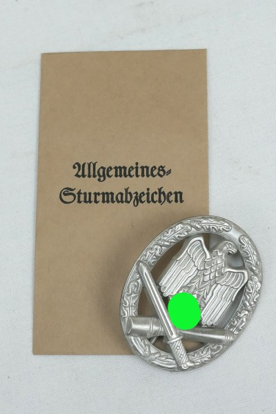 Wehrmacht General Storm Badge with Award Bag