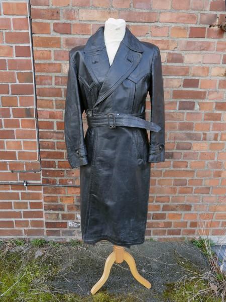 Vintage Wehrmacht Officers Coat Police Gestapo Leather Coat Gr.52