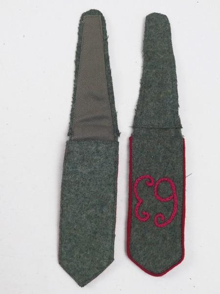1x pair epaulettes WK1 regiment 63 embroidered 1st World War