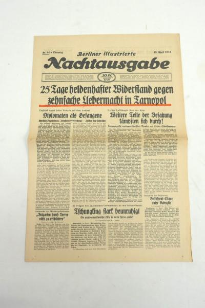 WK2 daily newspaper Berliner Illustrierte Nachtausgabe newspaper 18 April 1944