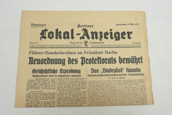 WK2 Complete daily newspaper - Berliner Lokal-Anzeiger 16 March 1944 - morning edition