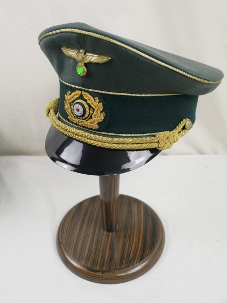 Wehrmacht General Army gabardine peaked cap effectuated Gr.59