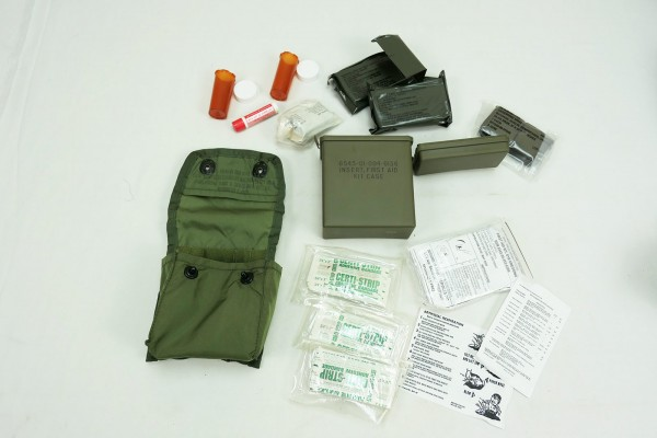 US Army Individual First Aid Kit Nylon Pouch Alice with Contents