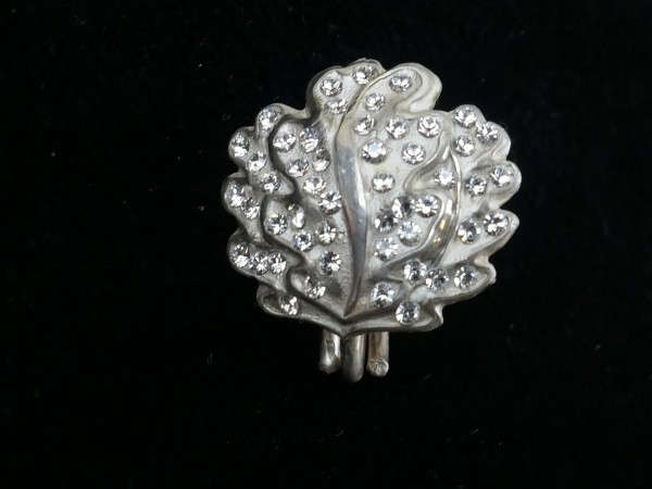 oak leaves 8oo` silver with brilliant imitations