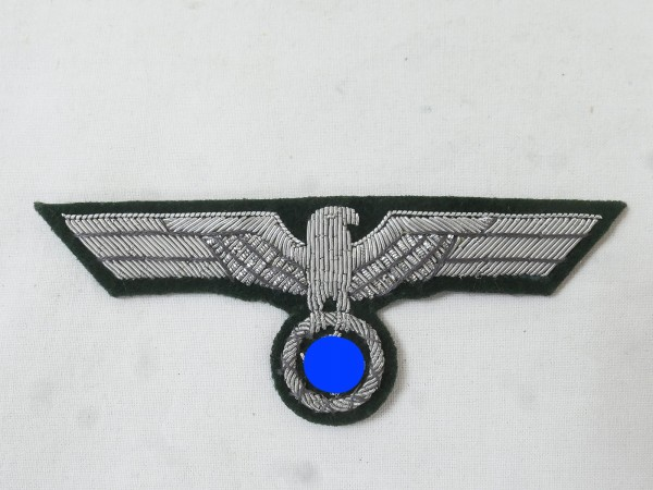Uniform Officer's breast eagle M36 silver thread embroidered for field blouse