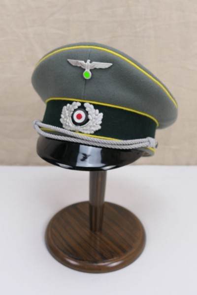 Wehrmacht visor cap intelligence officer with effects size 59