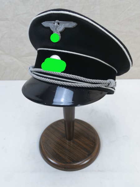ASS General Elite Officer Visor Cap Gabardine - silvered effects size 60