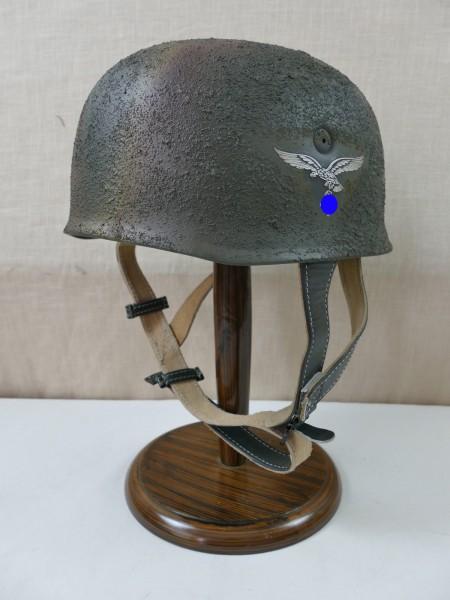 paratrooper helmet Rauhtarn Normandy camouflage steel helmet M38 Luftwaffe SD / head size Gr. 57/58