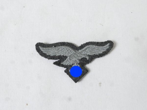 Luftwaffe cap eagle cap badge blue grey embroidered f. Feldmütze / Schiffchen