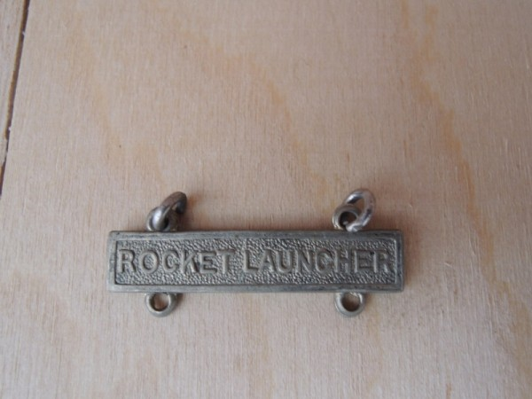 "US Army marksman badge extension "" Rocket Launcher """