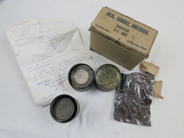 US Army Beefsteak Meal Combat Individual original Viet Nam dated 70's