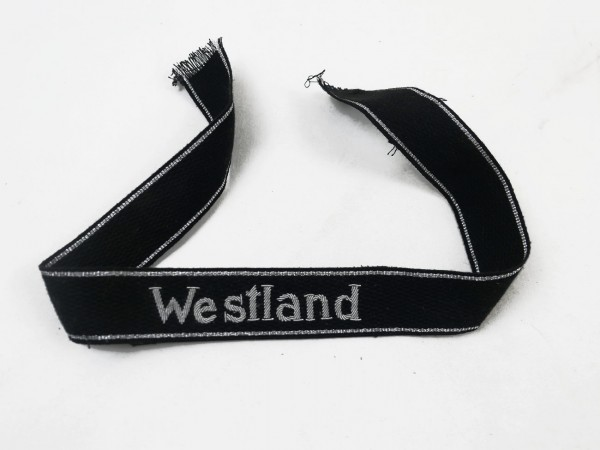 "Elite sleeve band ""Westland"" embroidered with silver thread Version for officers"