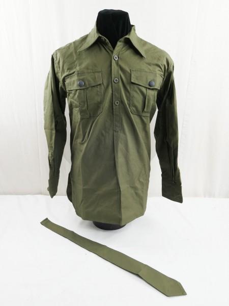 Field Shirt Tropical Shirt long sleeve shirt DAK German Africa Corps with Binder green