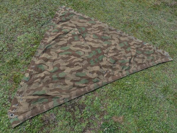 #B Original Wehrmacht Tent Tarpaulin Splinter Camouflage Tent Tarpaulin Splinter Camouflage WK2 *Very nice*