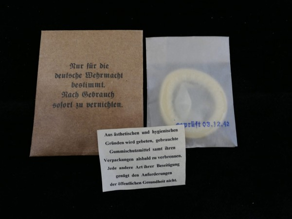 Wehrmacht condom for soldiers in paper cover with package insert (418)