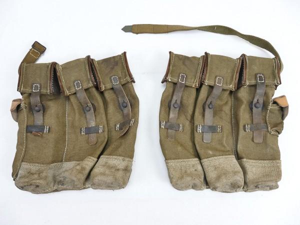 #17 Vintage Wehrmacht 2x magazine pouch pair assault rifle 44 STGW44 MP44 MKB aged