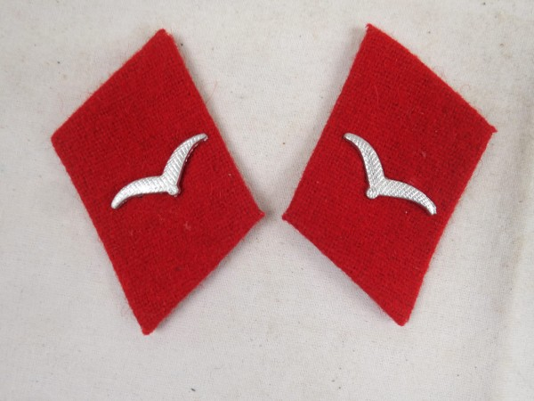 Wehrmacht Flak collar mirror airman flak gunner 1x pair