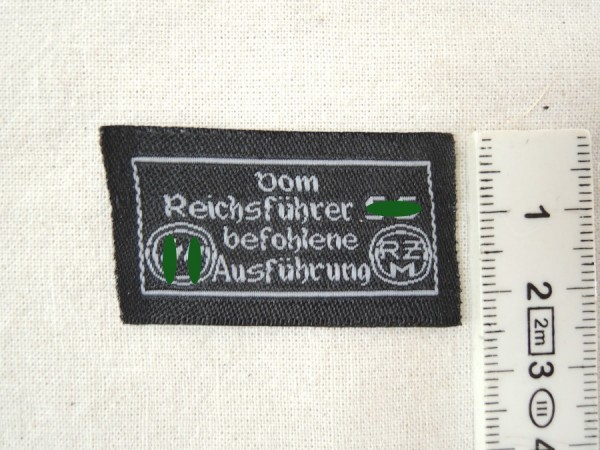RZM manufacturer label for clothing