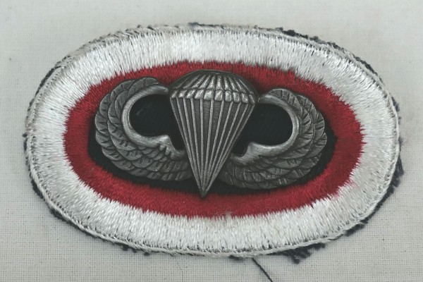 #07 US Airborne Jump Wing oval - Parachute badge Parachutist Badge Jump Badge